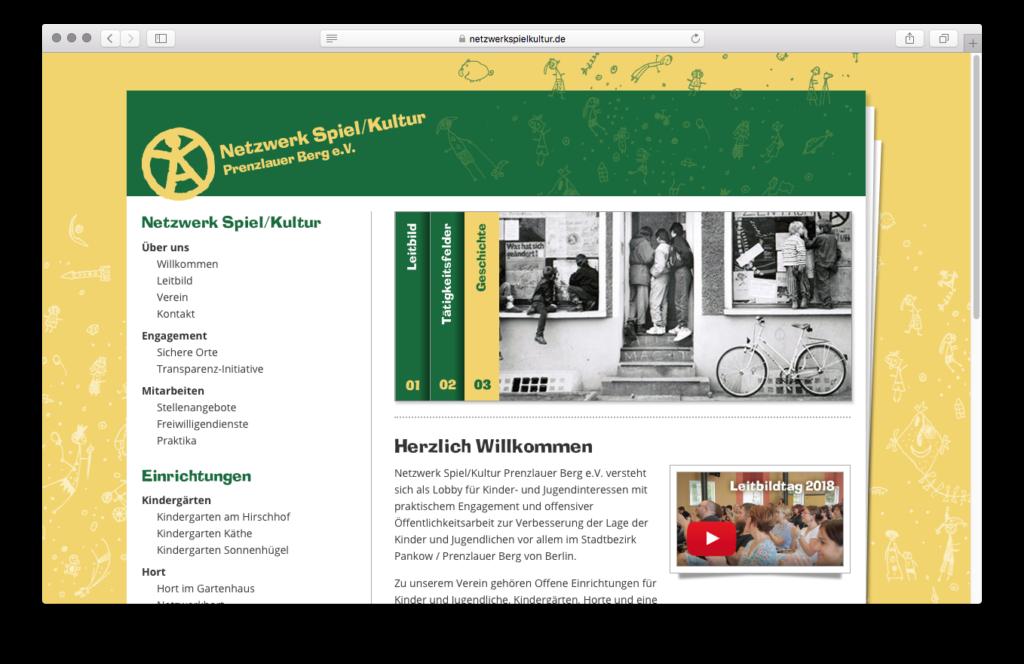 Netzwerk Spiel/Kultur Website